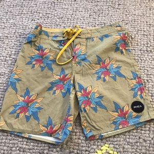 Men's RVCA floral board shorts